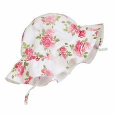 NEW Mud Baby Girl Pink Muslin Garden Rose Summer Sun Hat Item 16010048-IN