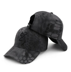 Tactical Black Grey Baseball Cap in Kryptek Camoflauge Trucker Hat Browning New