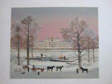 """MICHEL DELACROIX, """" CHAMBORD"""", Original color litho, s/n, Ltd. Ed."""