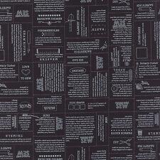MODA Fabric ~ MAMA SAID SEW VOLUME II ~ Sweetwater (5610 14) Black - by 1/2 yard