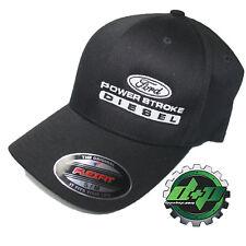 Ford Powerstroke hat ball cap fitted flex fit  flexfit stretch Black S/M