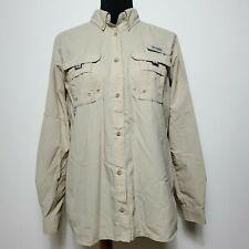 Columbia PFG Women's Long Sleeve Vented Fishing Tan Shirt Size M