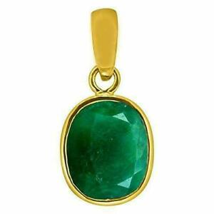 100% Natural Certified Green Emerald 925 Sterling Silver Gold plated Locket