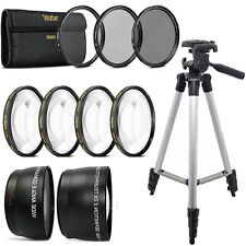 58mm Fisheye Wide Angle & Telephoto Lens Top Accessory Kit for Canon DSLR Camera