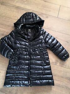Zara Girls Jacket Coat Age 8 Navi Blue