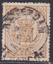 1869-71 wapenzegels 2 cent geel lijntanding 14 kleine gaten NVPH 17 A