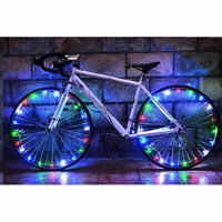 20 LED Cycling Bicycle Bike Rim Lights LED Wheel Spoke Light String Strip Lam!l