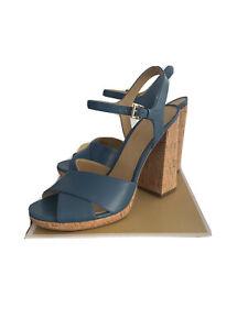 Michael Kors Women's ALEXIA Platform Sandals DK Chambray Size 8.5 M $59