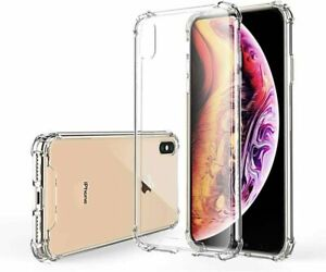 CLEAR Shockproof TPU Silicone Case For Apple iPhone X XS