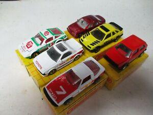 Matchbox Macau Superfast Lot of 5 assorted cars- generic yellow grid box, Lot B
