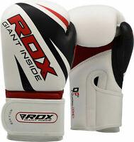 RDX Boxhandschuhe Trainings Handschuhe Leder Gloves MMA Kickboxen Fitness Boxen