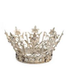 Crown Cake Topper, Santos Crown, Silver Crown, Wedding Cake Topper ~ Fiona