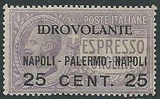 1917 REGNO POSTA AEREA NAPOLI PALERMO MNH ** - W253