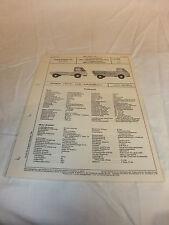 Reklame Datenblatt VDA-Typenblatt Oldtimer Ford Taunus-Transit 1000/1,5 1250 ´65