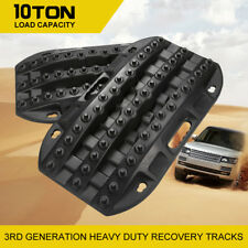 Pair Recovery Tracks Off Road 4WD 4x4 Sand Snow Mud Tyre Ladder 10 Ton Black