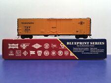 "HO-scale ""Texas & Pacific Blue"" T&P 3504 50' Freight Train Box Car  / Branchline"