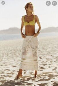 Free People Salty Point White Crochet Skirt size Medium