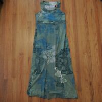 The Territory Ahead Maxi Dress Sleeveless Blue Green Floral Size Medium
