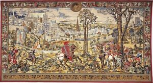 HIGH QUALITY LINED BELGIAN TAPESTRY WALL HANGING, MAXIMILIEN 129CM X 70CM, 00270