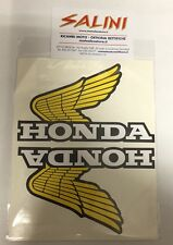 PVC due colori nero cromato 2 adesivi HONDA ALI stickers moto 09