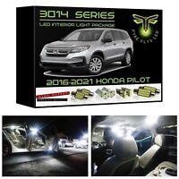 White LED interior lights package kit for 2016-2021 Honda Pilot 3014 Series+Tool