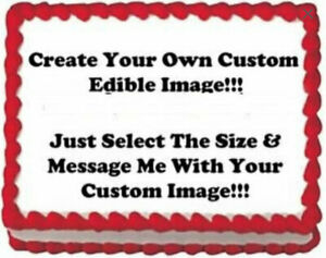 Create Your Own Edible Image Cake Birthday Party Topper 1/4 Sheet
