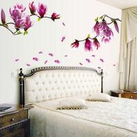Removable DIY Magnolia Flower Wall Decal Vinyl Sticker Mural Art Room Decor