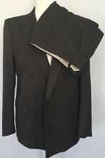 Lecinni Sibau Cerruti 1818 Mens Suit Wool Bespoke Pinstriped France EU 52M US 42