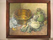 Peinture Huile HSP LE CHOUX signé Alphonsine BOUQUET 1944 - Oil Painting BENEZIT