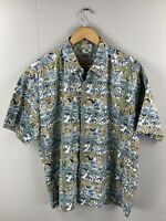 Collection by Kahala Men's Vintage Short Sleeve Hawaiian Shirt - Size XL