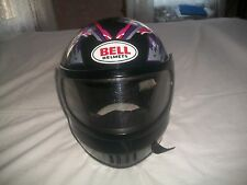 BELL SNOW SPRINT SNOWMOBILE HELMET W/VISOR- LADIES~ SZ X-LARGE ~COLORFUL~VGUC