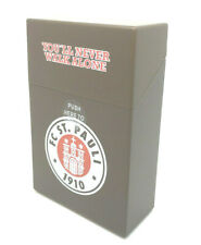 FC St. Pauli Zigarettenbox Etui Cigarette Box Fussball - Logo - Braun