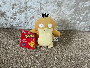 Hasbro - Pokemon Psyduck Beanie Plush / Soft Toy Vintage Rare