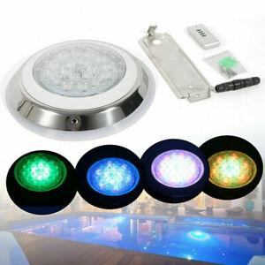 24W Schwimmbad Unterwasser Scheinwerfer Poollicht Poollampe 7 Farben 360LED IP68