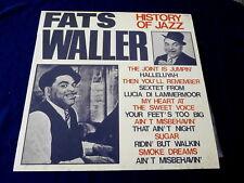 FATS WALLER~ HISTORY OF JAZZ~ NEAR MINT~ JOKER RECORDS ~ITALY ~ JAZZ  LP