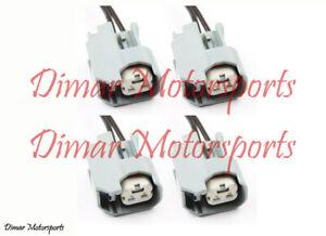 4-EV6 Fuel Injector Connectors Plugs Clips Pigtails Quick Disconnect