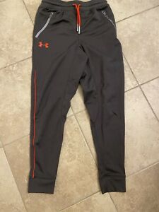 Under Armour Pants Youth Medium Red Grey