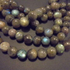 LOT de 10 PERLE RONDE PIERRE NATURELLE INDE 7 mm LABRADORITE NATURAL STONE BEADS