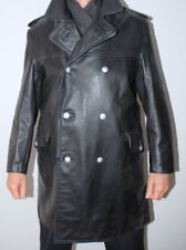 Man's Military Genuine German Firefighter Leather Coat Jacket 50 / UK 40 / Med