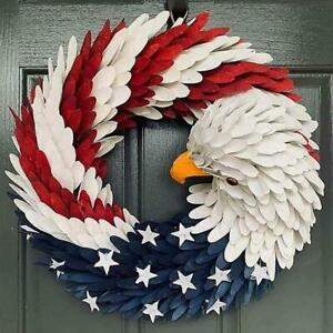American Eagle Wreath Patriotic Home Decoration For Front Door USA Election 2020