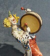 La chine Capodimonte Clown avec Tamburo