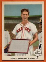 1959 Fleer #21 Ted Williams NEAR MINT+ HOF Boston Red Sox FREE SHIPPING
