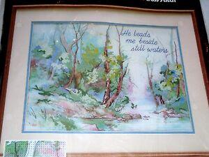 Dimensions Woodland Stream No Count Cross Stitch Kit Barbara Mock Design