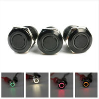 1 X Waterproof 12V Latching Push Button Switch Metal LED Power Momentary Switch