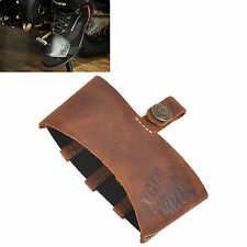Brown Leather Motorcycle Shift Guard Shifter Sock Boot Shoe Protector Cover Hot