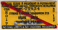 VFA-213 BLACKLIONS ISIS / ISIL HUNTING PERMIT PATCH