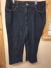 efed191341870 Women s Faded Glory Size 18 Dark Wash Stretchy Jeans Pocketed EUC C1400