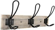 Vintage Coat Rack 3 Hooks Wood Entryway Hall Mudroom Hanger Space Saver New