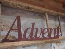 Schriftzug Advent Metall  Dekoration Möbel Wohnen Tischdeko Schild Tablett