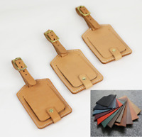 travel luggage handbag baggage suitcase ID holder tag cow Leather Customize A835